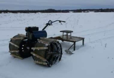 Снегоход из мотоблока
