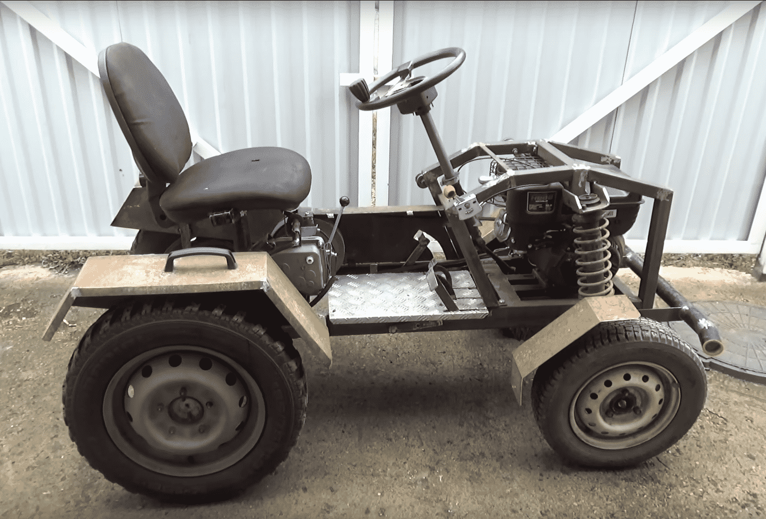 Трактор с двигателем от мотоблока