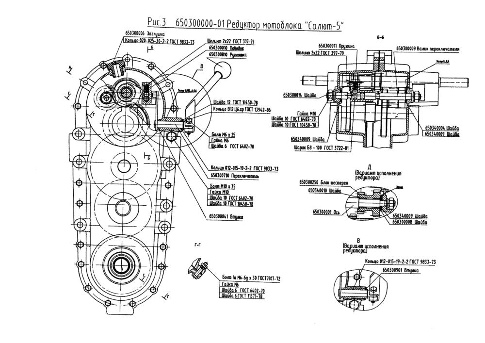 Устройство редуктора мотоблока