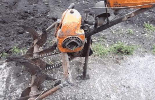 Изготовление культиватора из бензопилы «Урал»