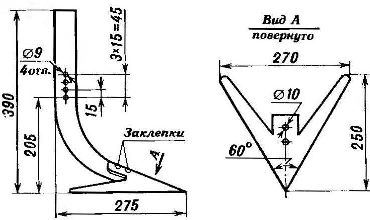 Плоскорез для культиватора: чертежи