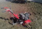 Вспашка земли мотокультиватором