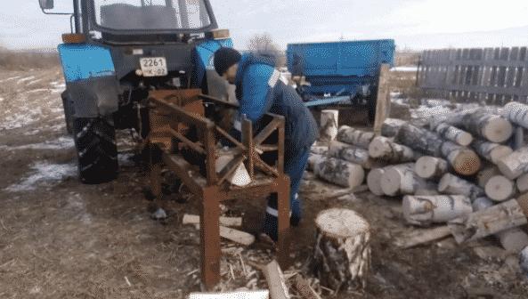 Гидравлический дровокол на трактор
