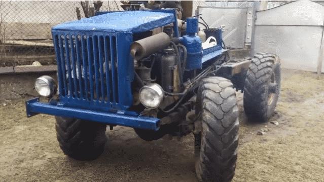 Как сделать трактор на базе ГАЗ своими руками