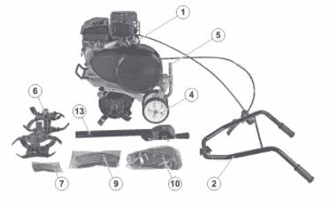 Конструкция мотокультиватора Carver T 350