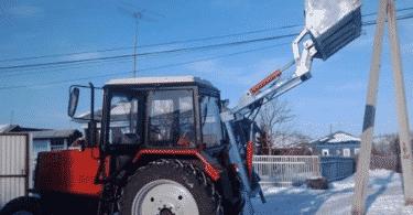 Самодельный кун для трактора