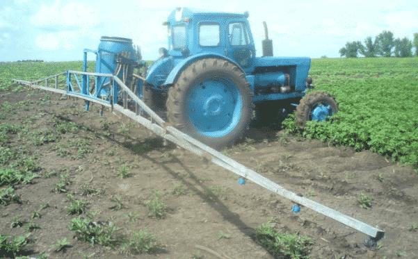 Самодельный навесной опрыскиватель для трактора