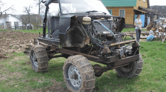 Трактор из автомобиля Нива