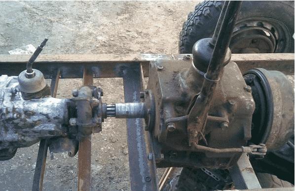 Установка коробки передач на трактор на базе ГАЗ