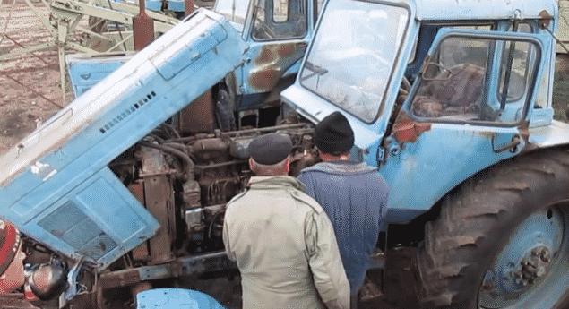 Как завести трактор с пускача