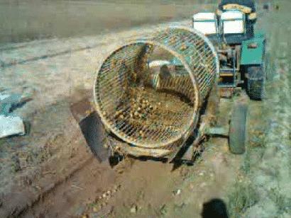 Барабанная картофелекопалка для минитрактора