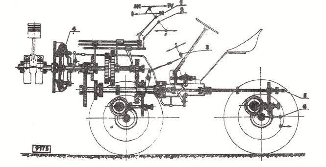 Чертеж Чешского минитрактора TZ-4K-14
