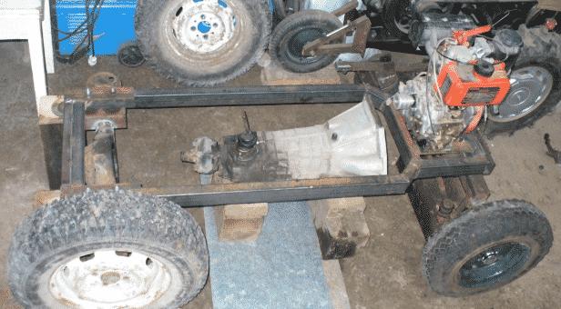 Изготовление прочной рамы минитрактора из ВАЗа