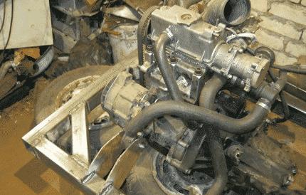 Минитрактор с двигателем Ока