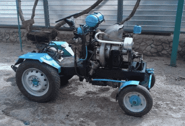 Минитрактор с двигателем от Оки своими руками