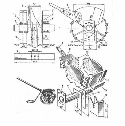Схема самодельнай сеялки