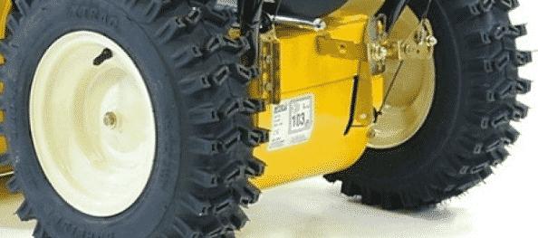 Устройство привода колес снегоуборщика