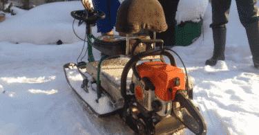 Как из бензопилы сделать снегоход
