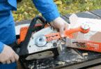 Как установить насадку-болгарку на бензопилу