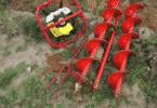 Насадка на бензопилу для бурения льда и грунта