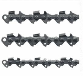 Таблицы размеров пильных цепей