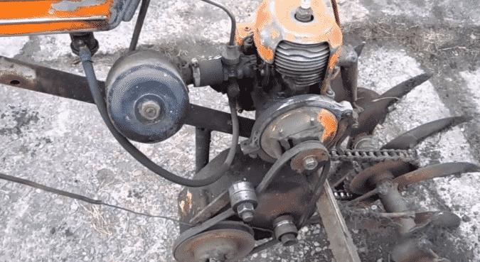 Мотокультиватор из бензопилы Дружба