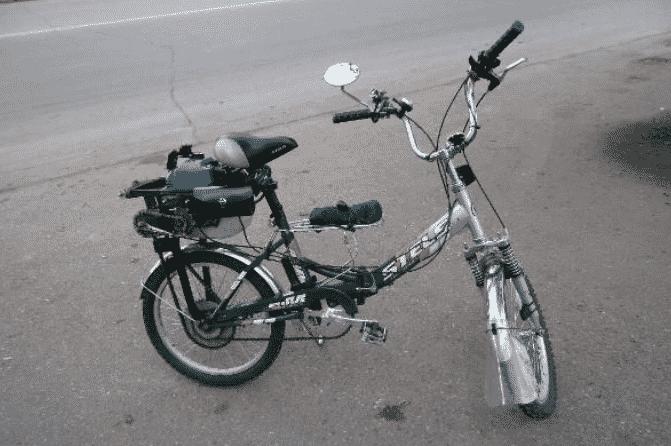 Велосипед с мотором от триммера